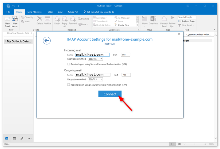 How to setup email address in Microsoft Outlook 2016 II – Malaysia